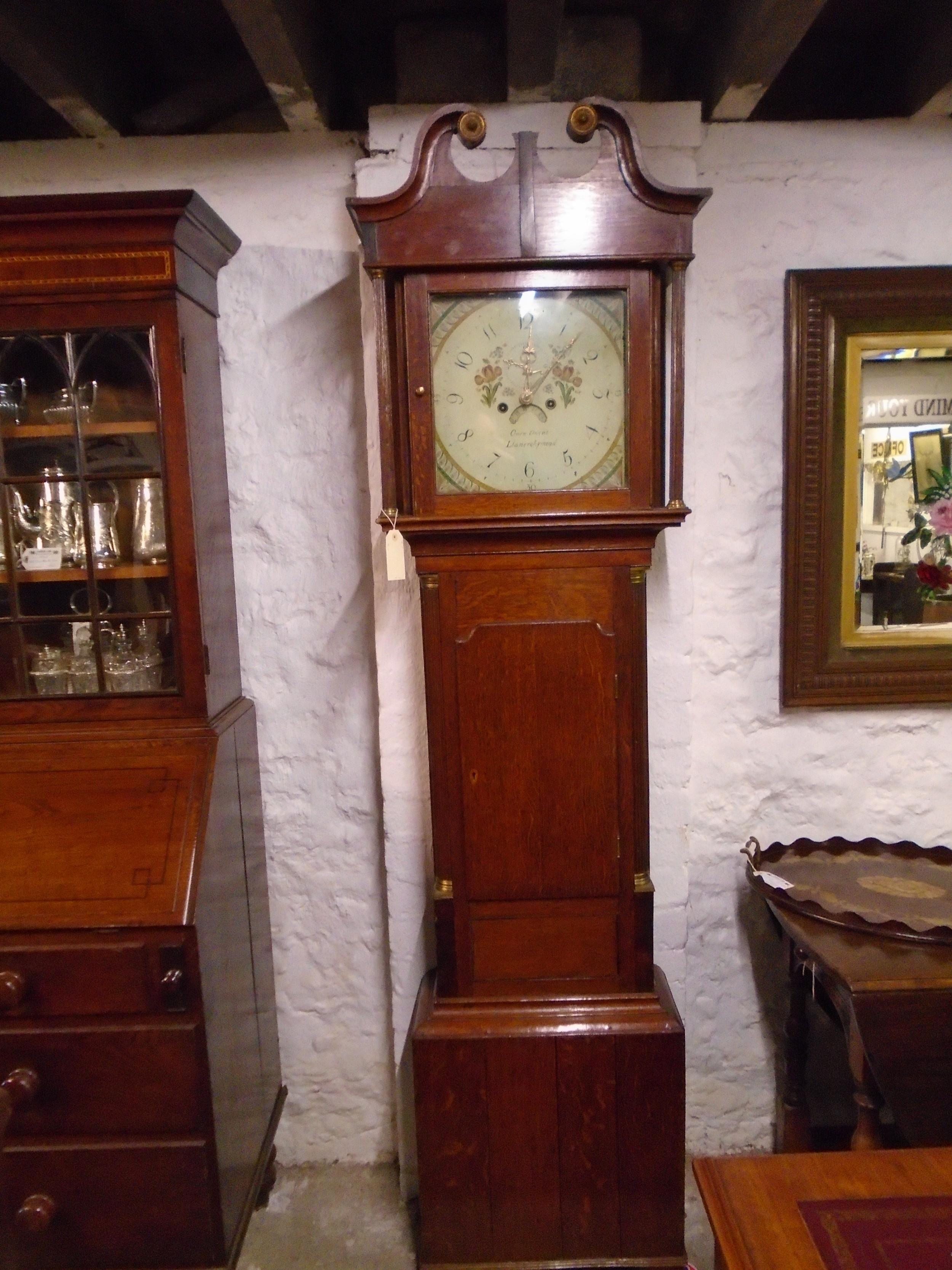 antique welsh anglesey oak eight day grandfather clock