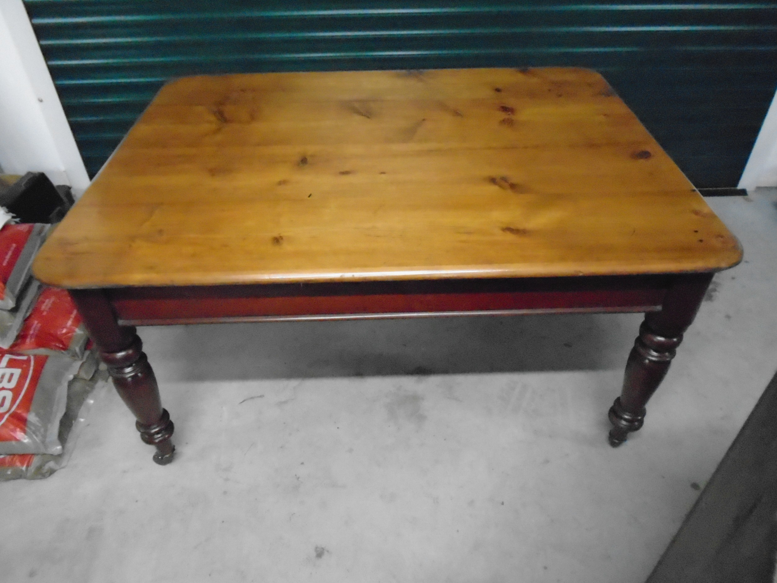 antique victorian pine top table