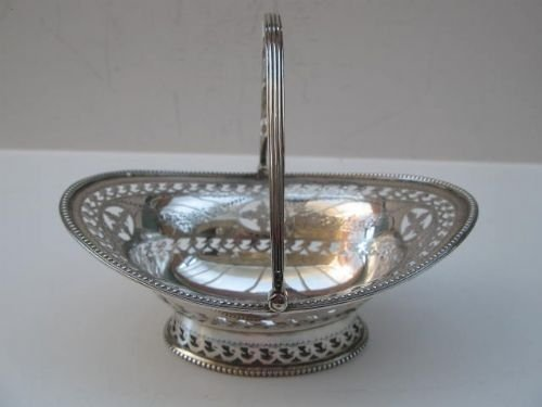 solid silver swinghandle basket
