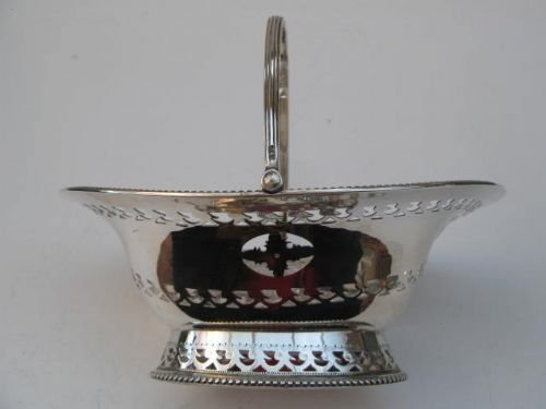 solid silver swinghandle basket - photo angle #4