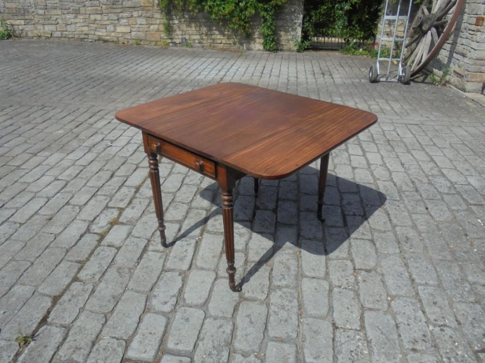 19th century mahogany pembroke sofa table