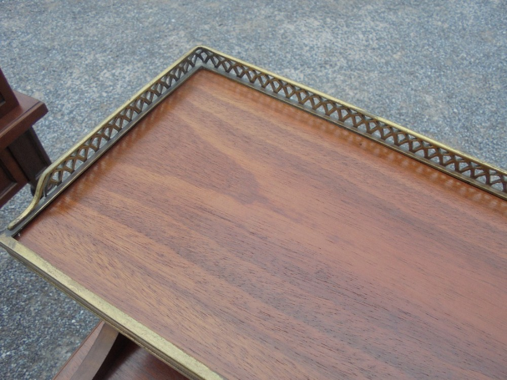 Pair Mahogany Bedside Cabinetscupboards With Gallery Rail 481500