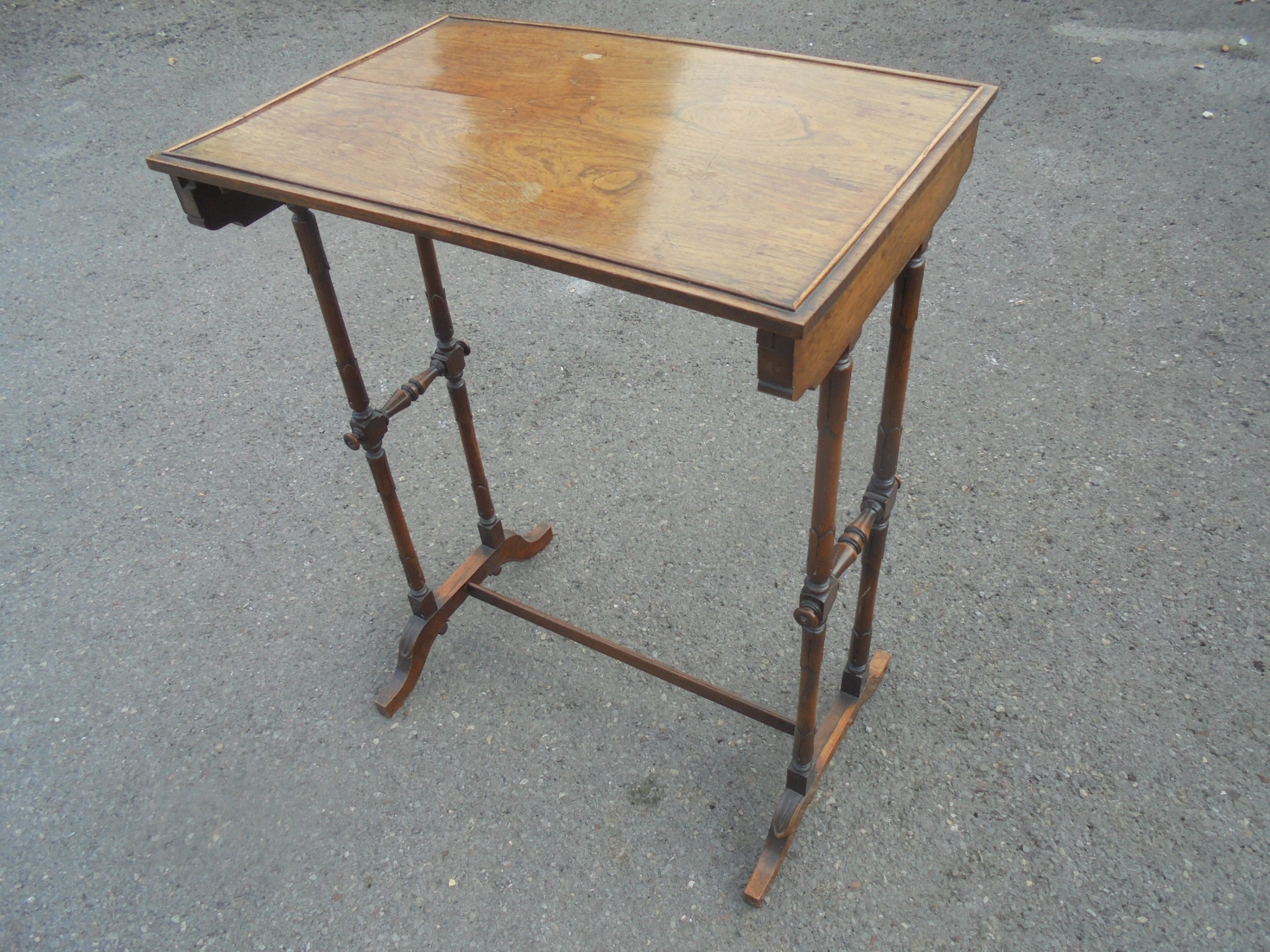 19th century rosewood occasional table signed jewell