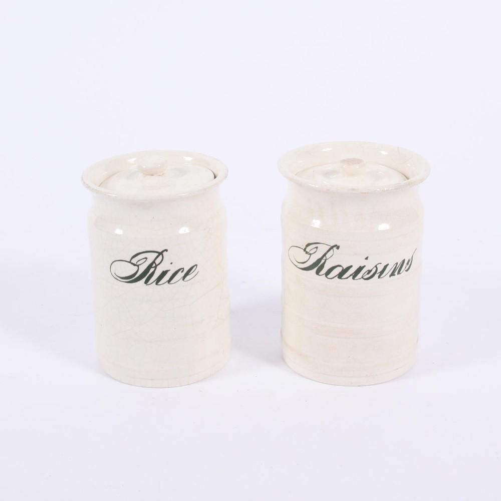 rice and raisin jars