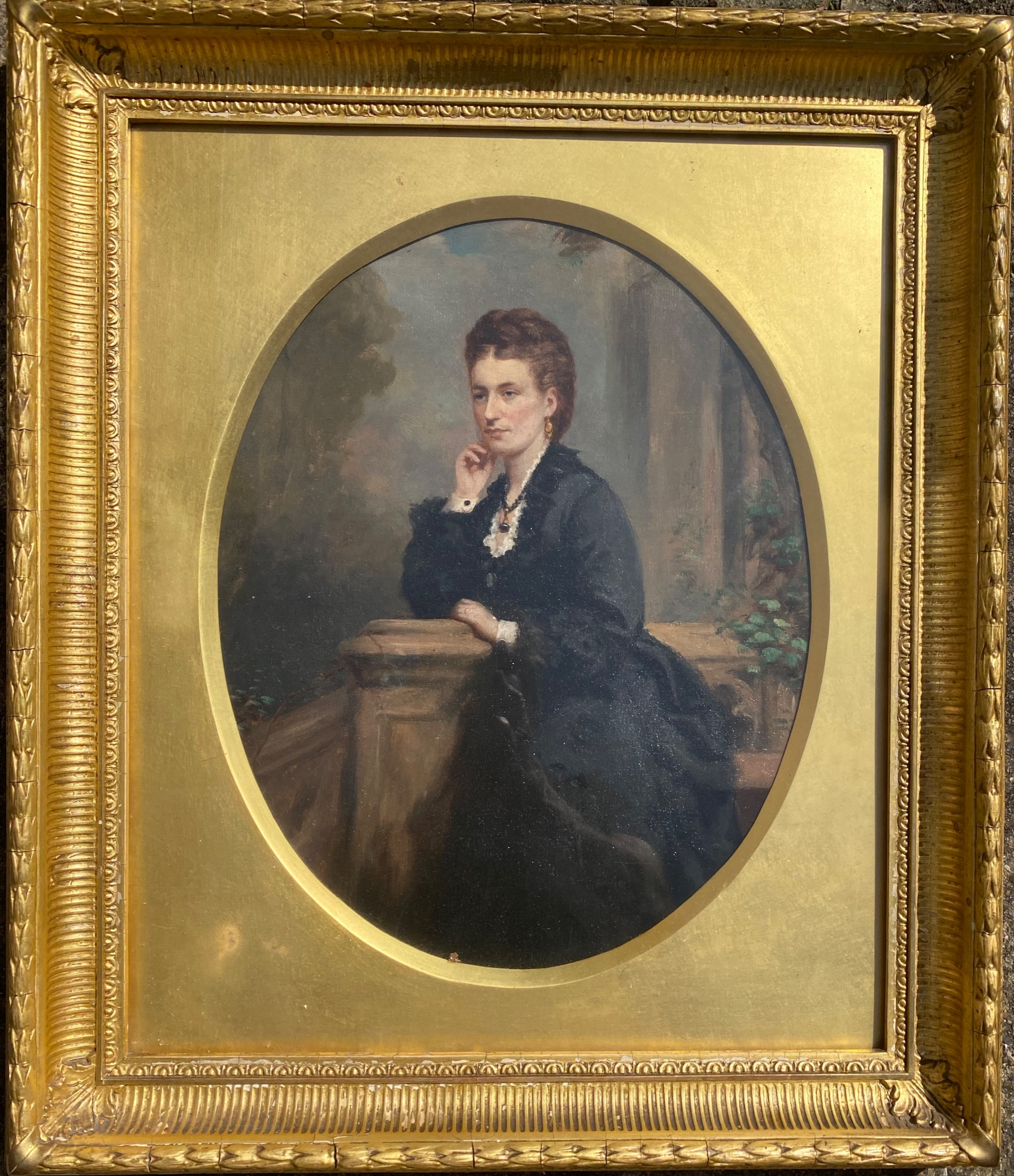 19th century oil on canvas of a scottish lady