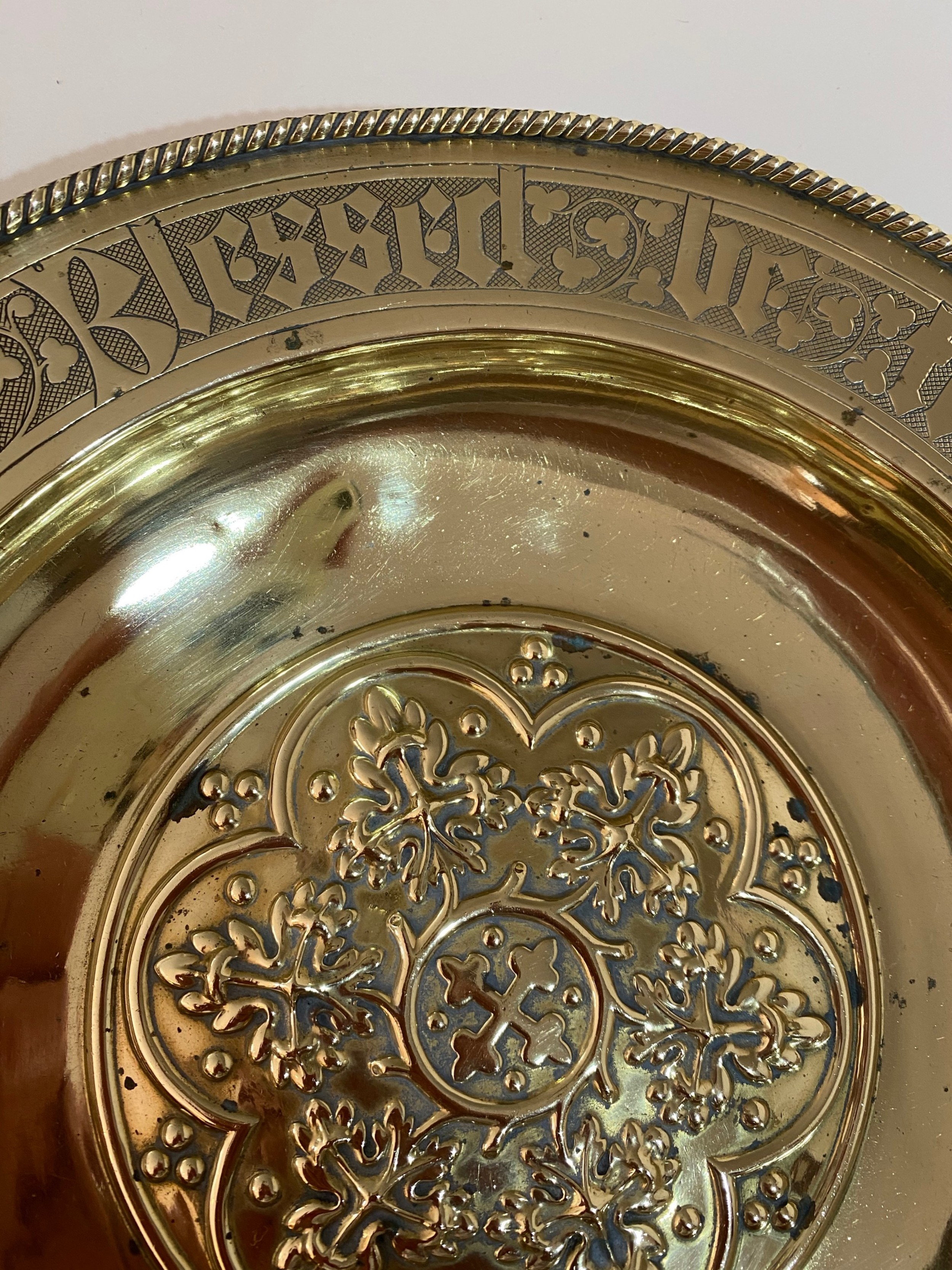 Brass Church Offering Plate. Circa 1900.   693520 ...