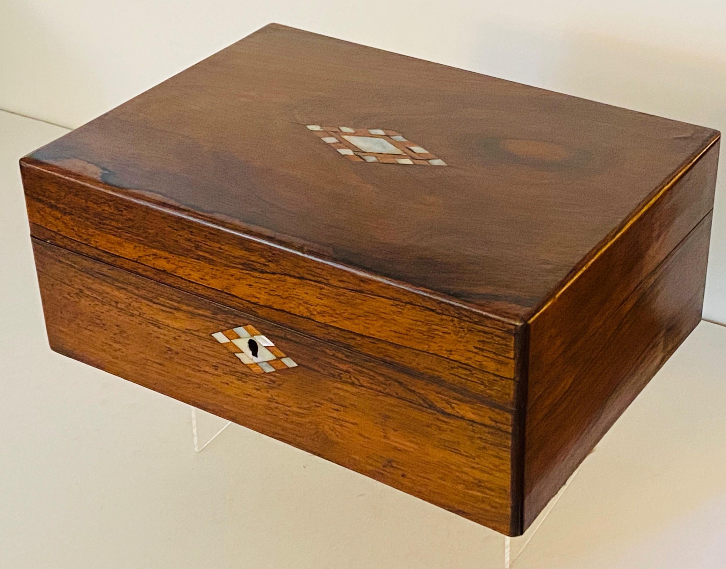 rosewood work box circa 1870
