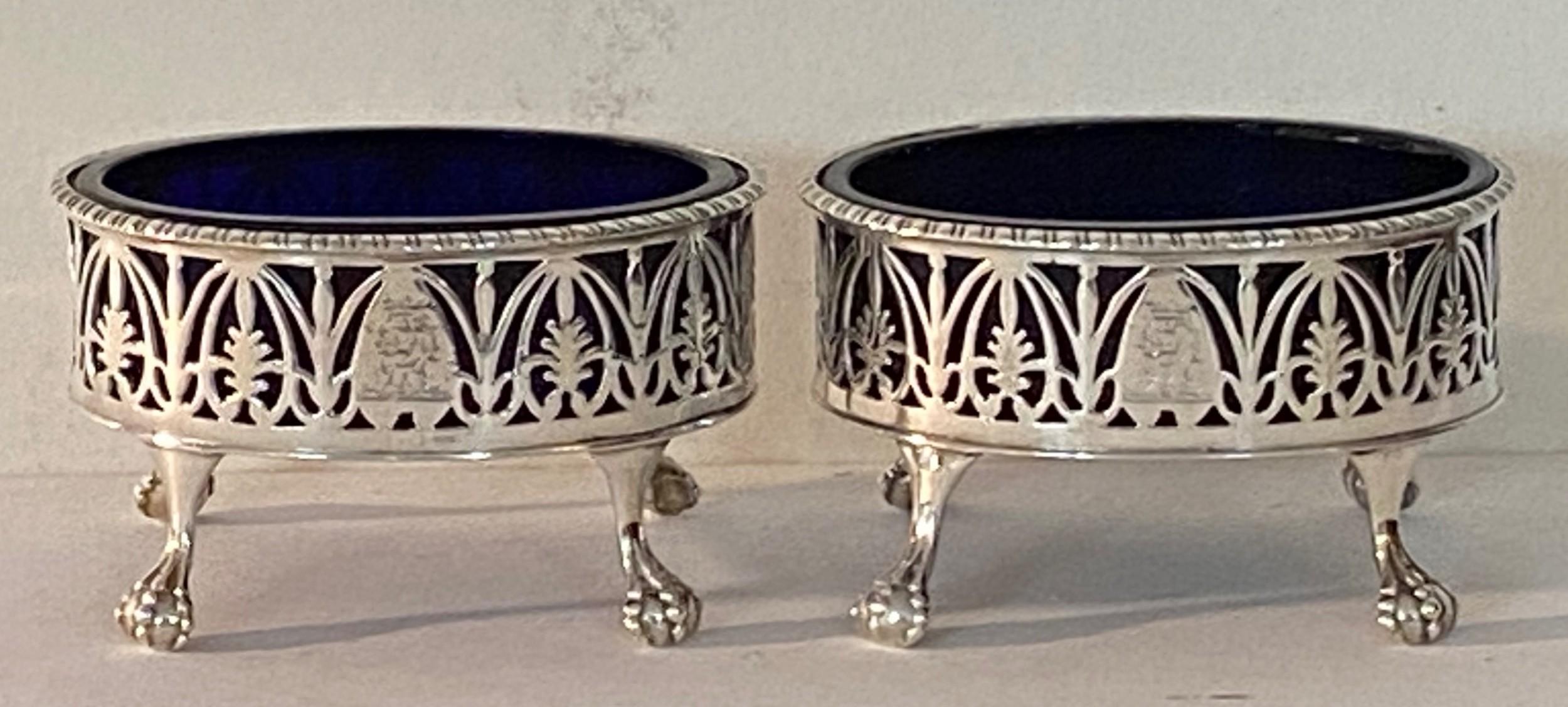 pair of silver salts george iii