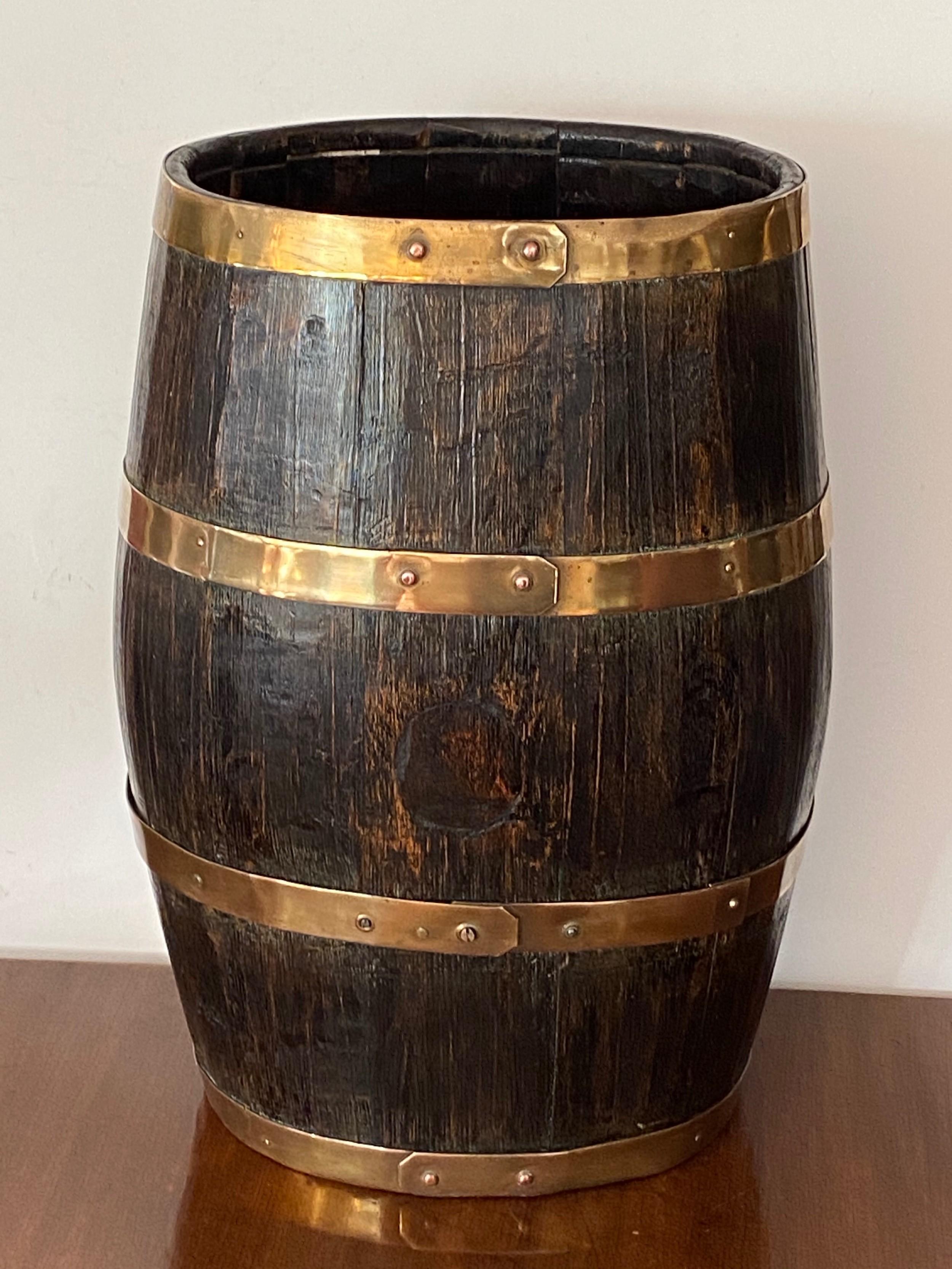 coopered oak whisky barrel