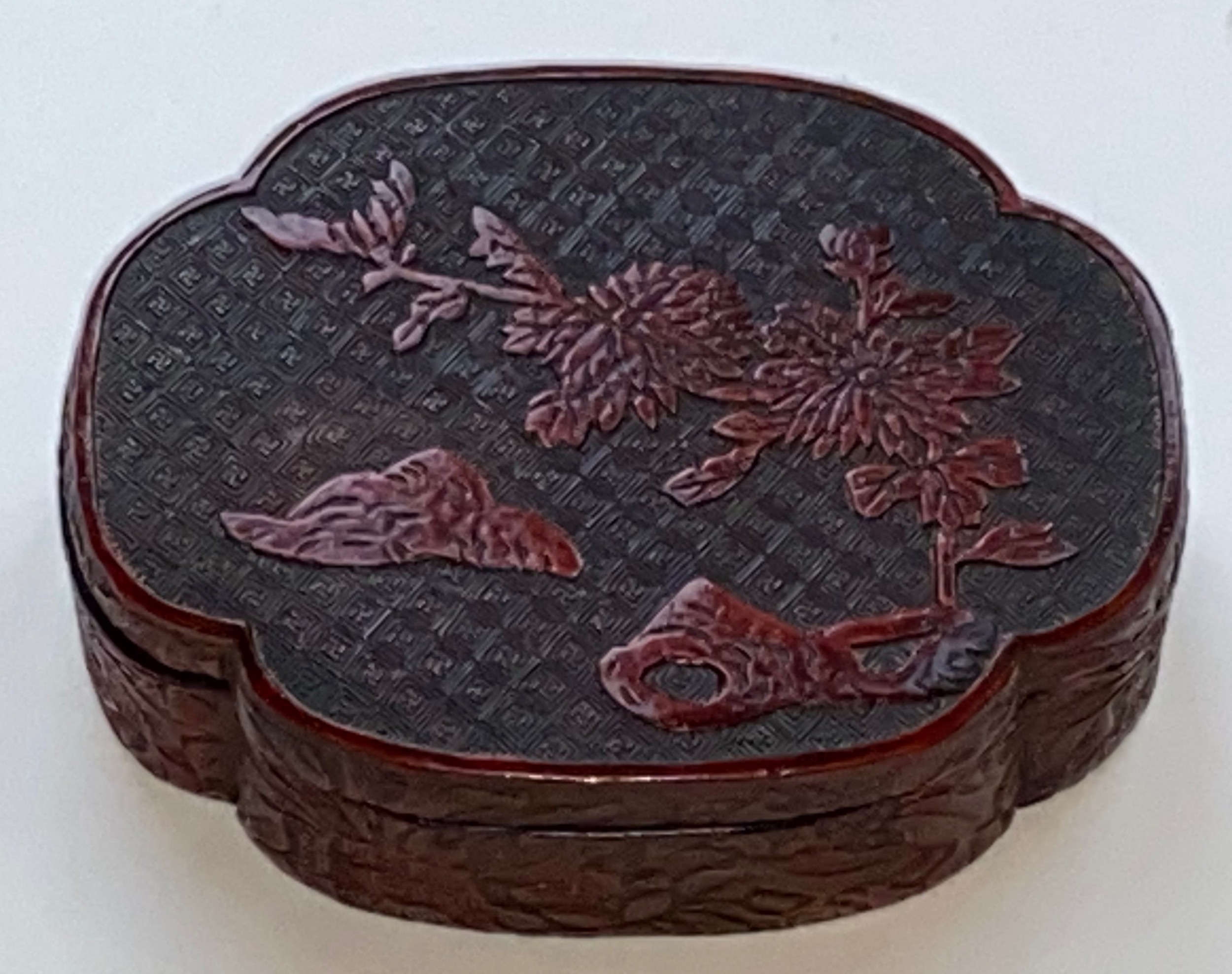 chinese quing dynasty cinnabar lacquer box