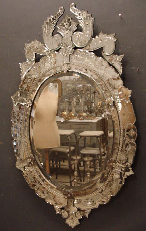 19th Century Antique Venetian Mirror 244808