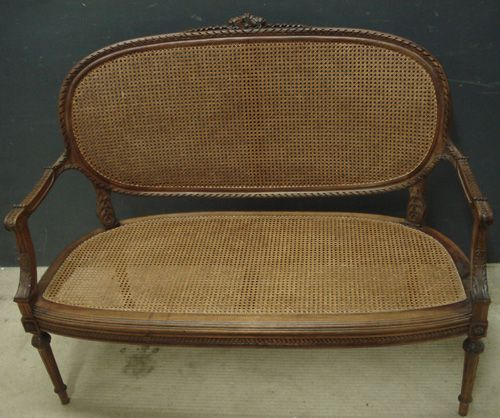 Antique French Cane Sofa 291352