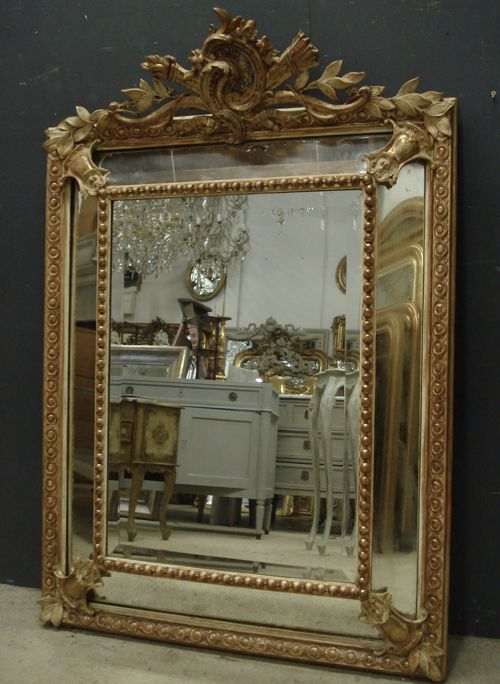 antique french mirror 258231