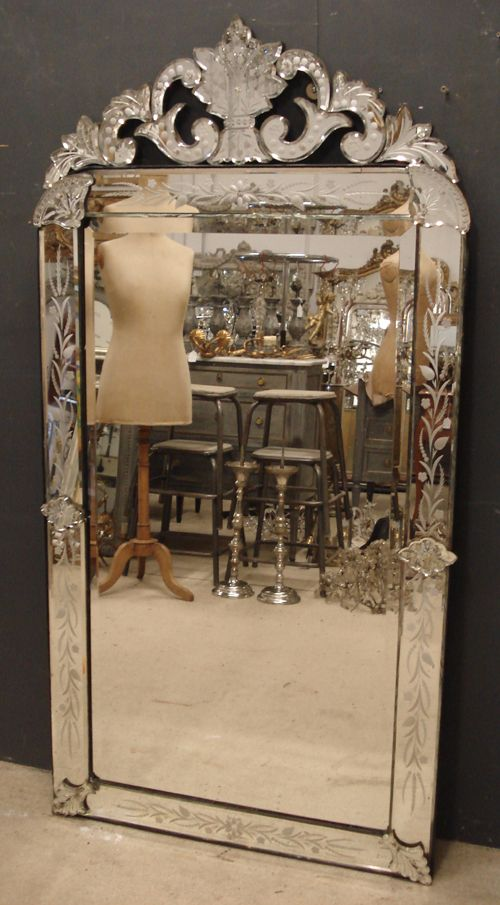 19th Century Antique Venetian Mirror 244798