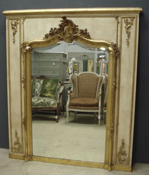 Large Antique French Trumeau Mirror 388573