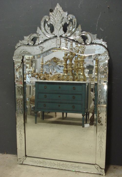 Large 19th Century Antique Venetian Mirror 465358 Sellingantiques Co Uk