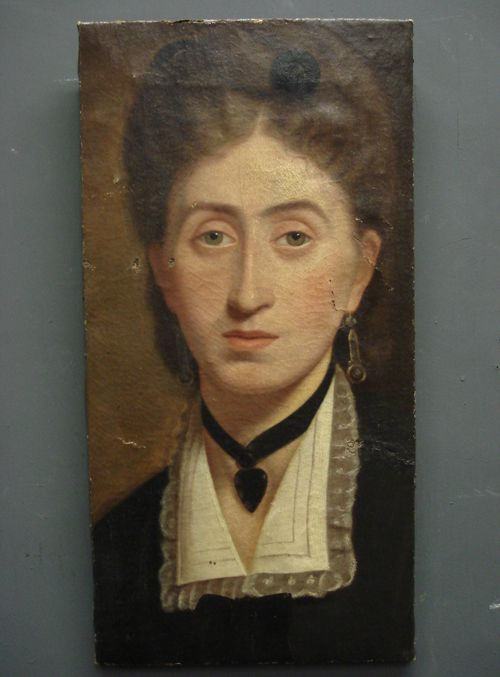 19th century french oil on canvas portrait