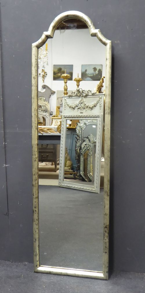 antique french silver dressing mirror