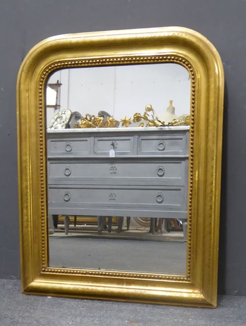 gilt louis philippe antique french mirror circa 1880