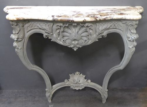 large 18th century louis xv antique french console table