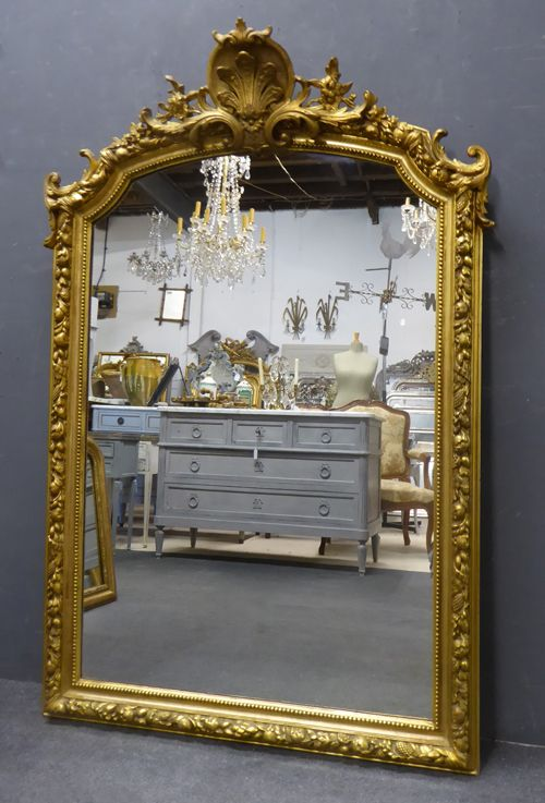 gilt napoleon iii crested antique french mirror