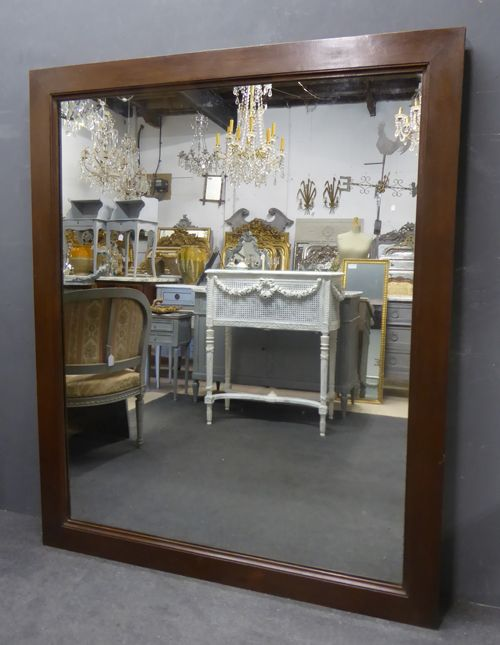 large antique french oak framed period mirror circa 1830