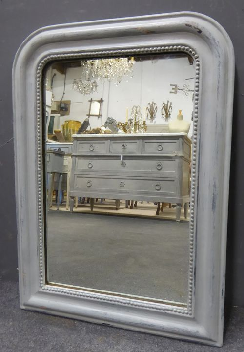 louis philippe painted antique french mirror