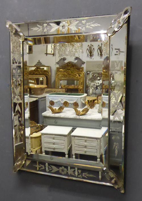 19th century antique venetian mirror