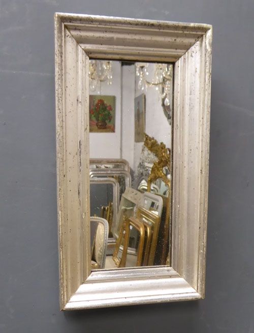 small silver louis philippe antique french mirror