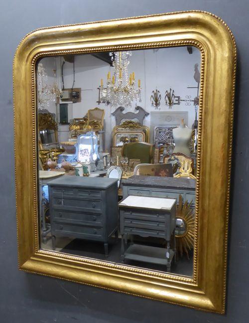 gilt louis philippe antique french mirror circa 1840