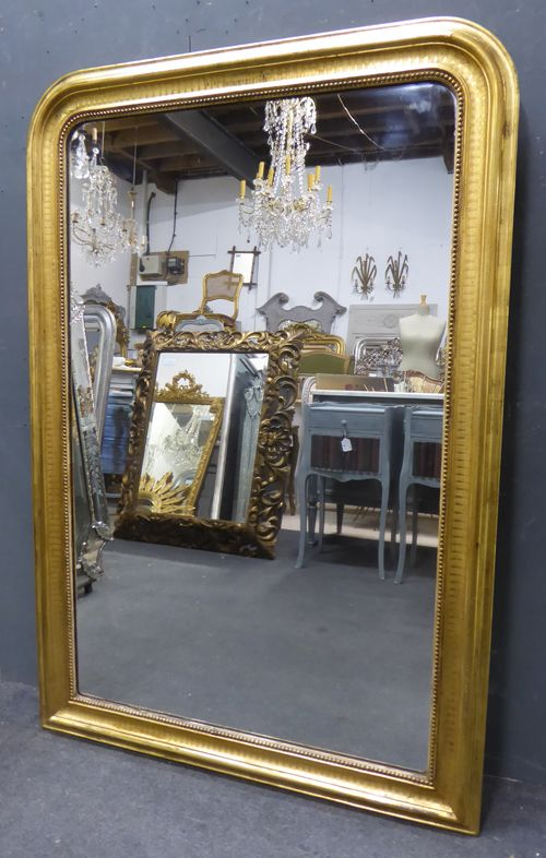 french gilt louis philippe antique mirror