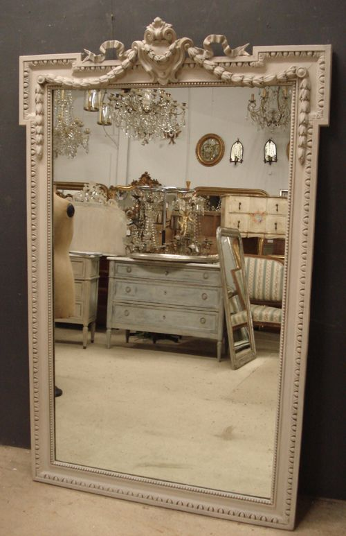 Large Antique French Mirror 234064