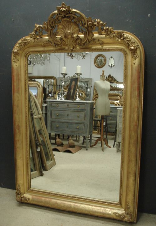 Large antique french mirror 246000 for Big mirrors for sale
