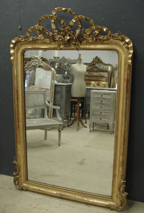 Large antique french mirror 248025 for Big mirrors for sale