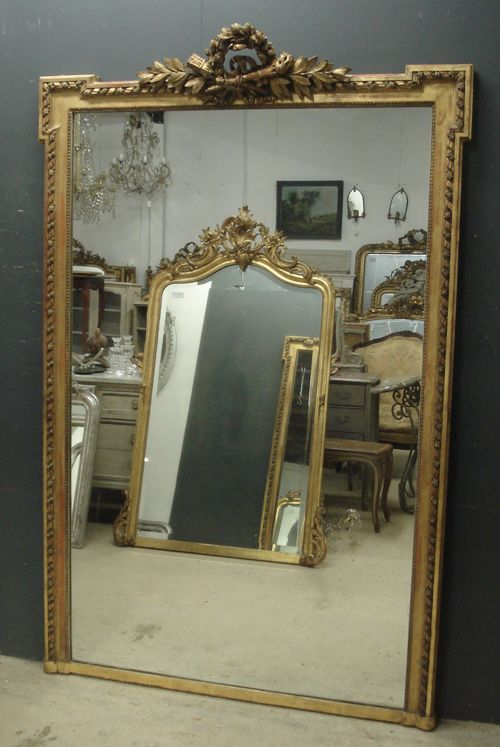 Large Antique French Mirror 302523
