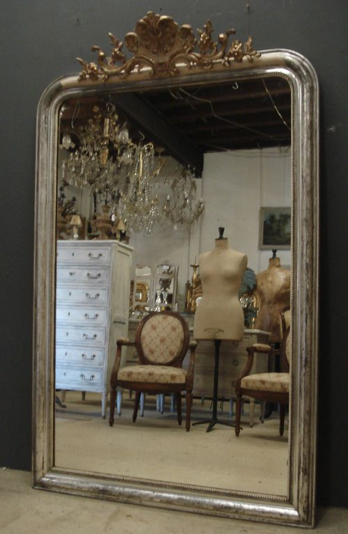 Large Antique French Mirror 324434