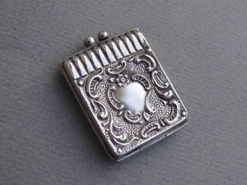 rare edwardian silver dual stamp case chester 1904