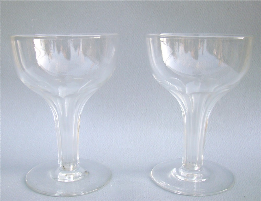 Exquisite pair of victorian hollow stem champagne glasses circa 1880 312605 sellingantiques - Hollow stem champagne glasses ...