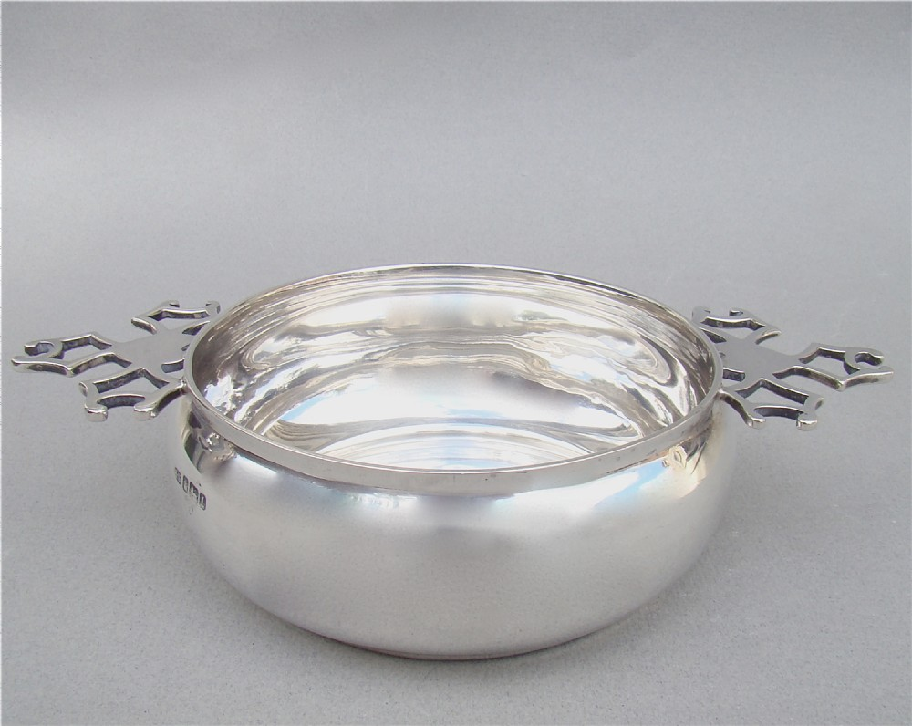 good edwardian silver porringer by henry stratford sheffield 1903