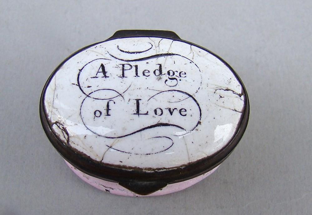 delightful georgian bilston enamel patch box circa 1790