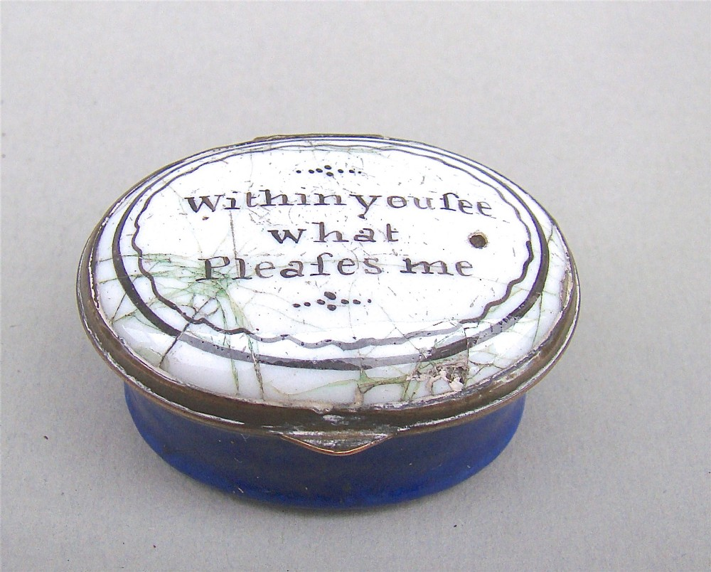 exquisite georgian bilston enamel patch box circa 1780