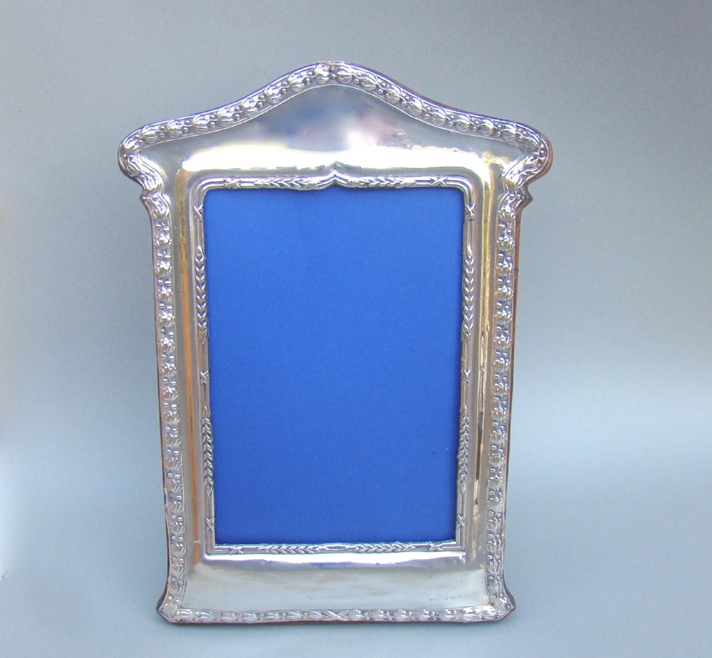 arts crafts silver large photo frame by broadway co birmingham 1916