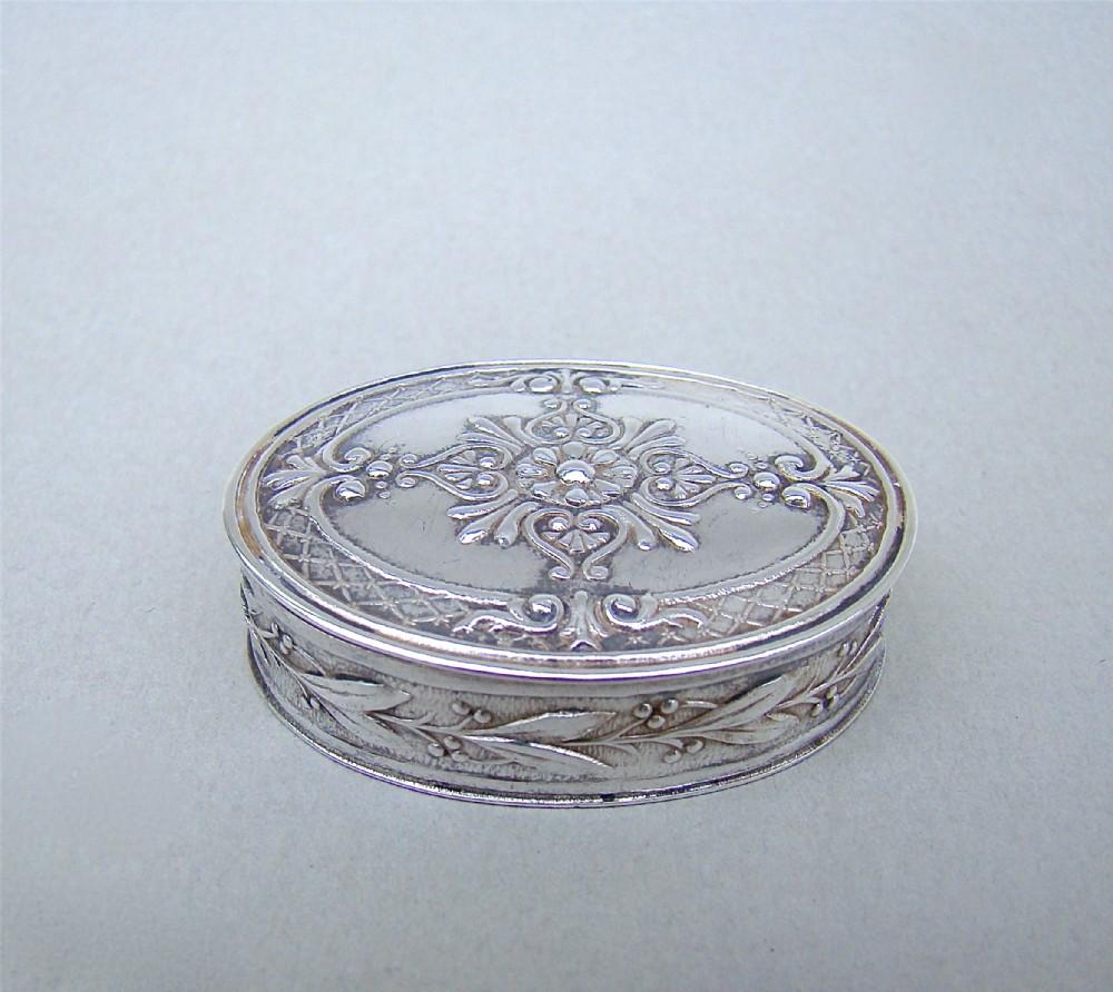 19th century french silver pill box circa 1890