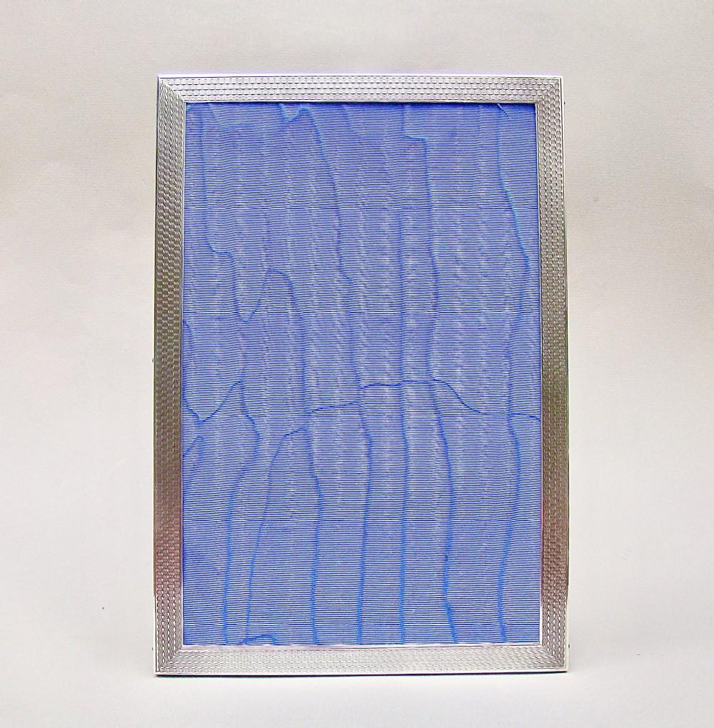 fabulous art deco solid silver photo frame by sanders mackenzie birmingham 1925