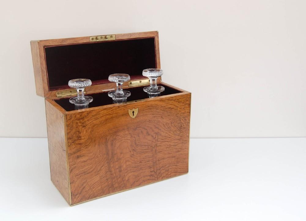 pollard oak triple decanter case presented to lieut re treweeks royal navy of hms natal