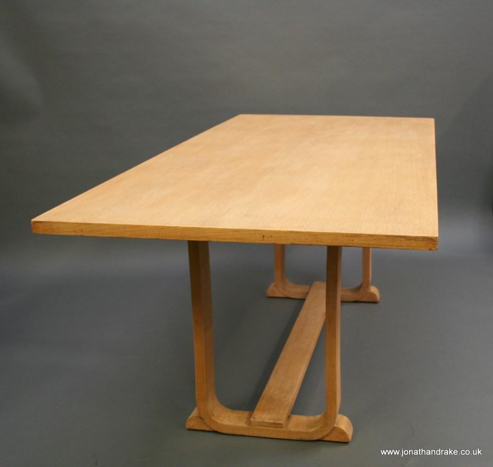 Art Deco Oak Dining Refectory Table 450271