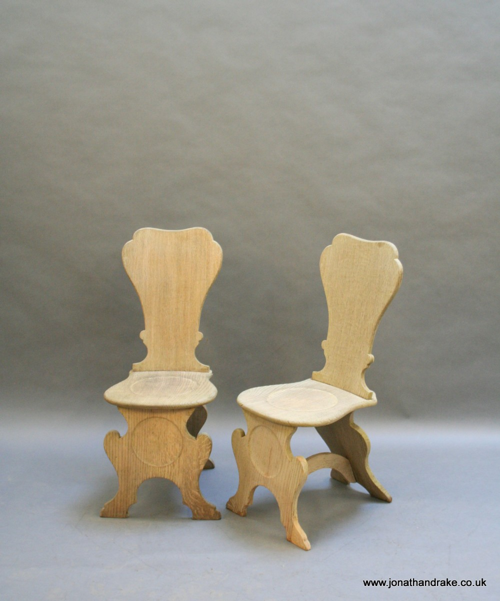 pair george 111 hall chairs