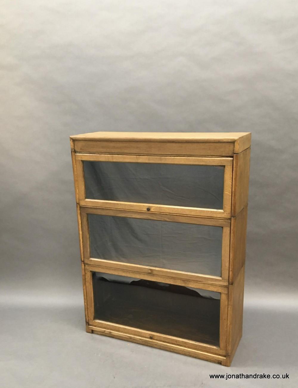 globe wernicke type oak bookcase by gunn
