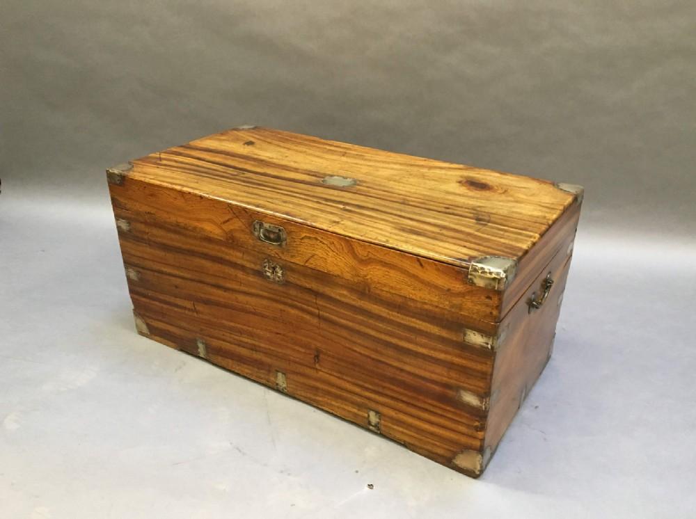 campaign camphor chest trunk labelled harrods