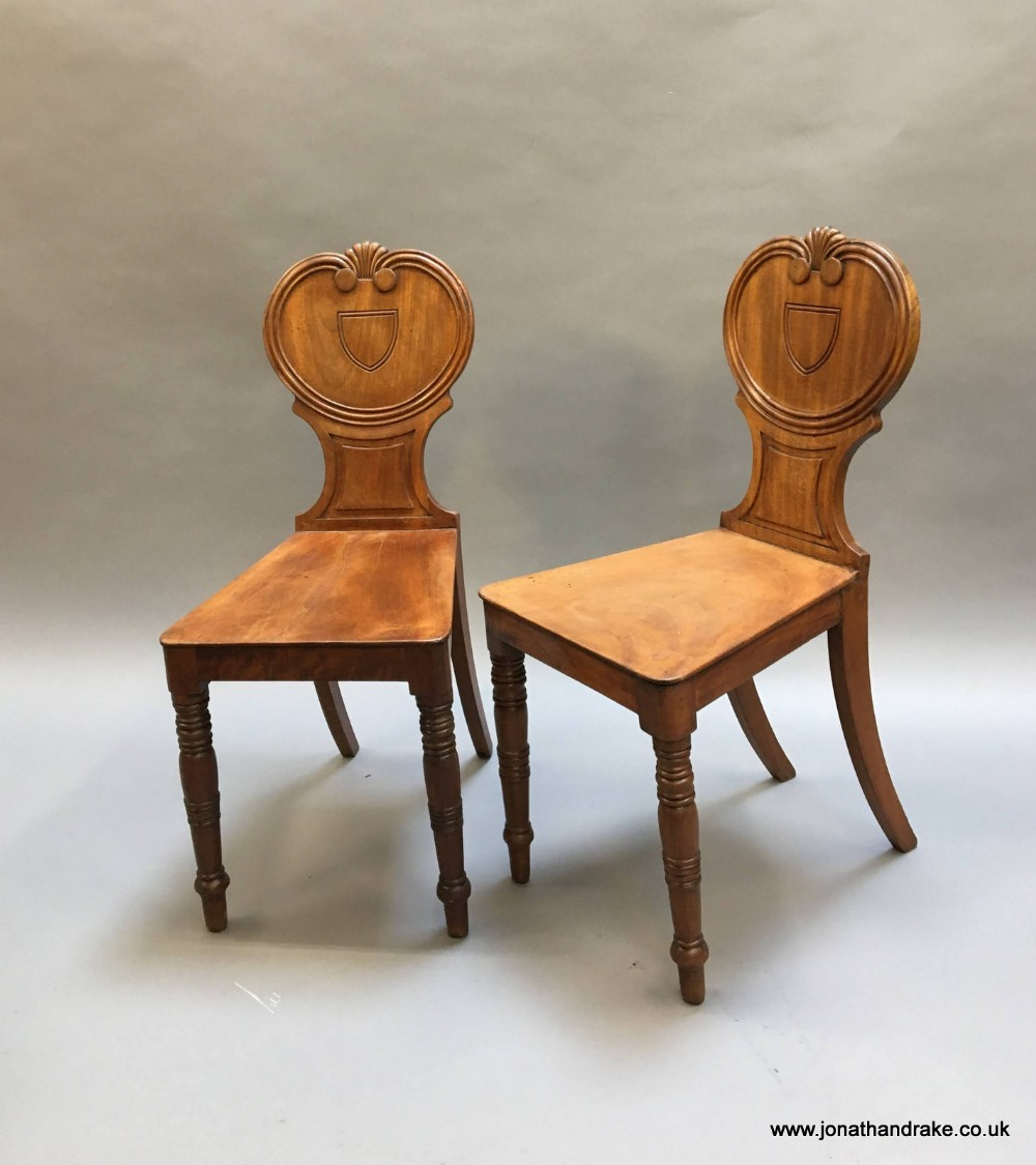 pair of george iv hall chairs